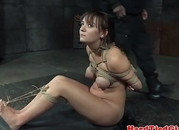 Bound be seated affianced with the addition of caned apart from dark-skinned master