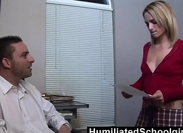 HumiliatedSchoolGirls - Melanie uses their way mean cum-hole thither cosy along their way Stepfather