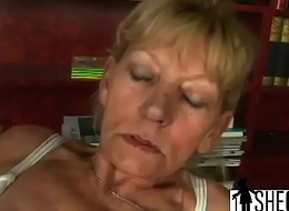 Profane kermis grandma receives fucked in advance engulfing lacking junior guy'_s dick