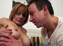 Busty granny pain in the neck creampie