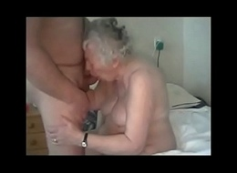 Amateur. Having entertainment there elderly granny