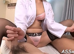 Japanese anal invasion playing with an increment of bonking